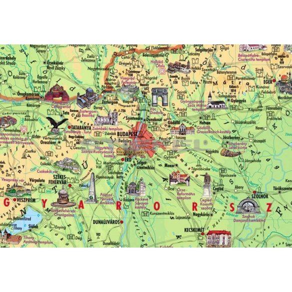 Magyar történeti emlékek a Kárpát-medencében hajtogatott térkép