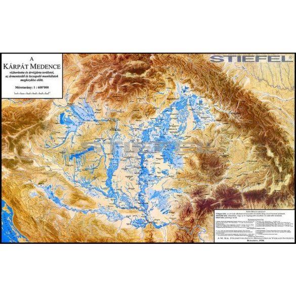 A Kárpát medence vízborította és árvízjárta területeinek fémléces térképe