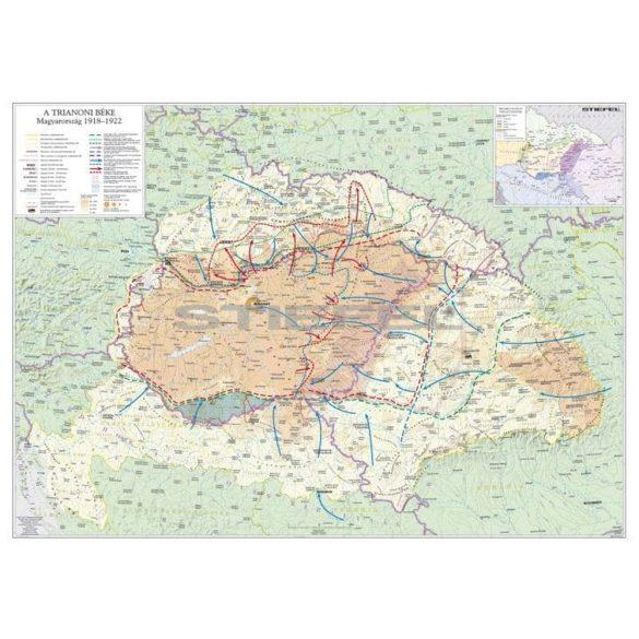 A trianoni békekötés következményei fémléces térkép