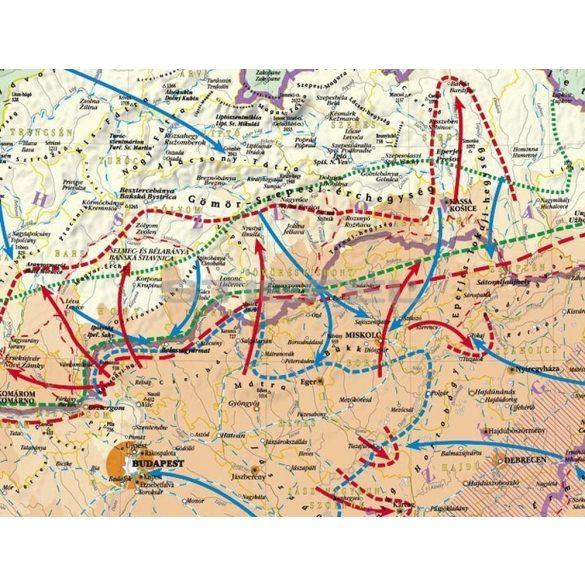 A trianoni békekötés következményei Magyarországon (hajtogatott térkép)