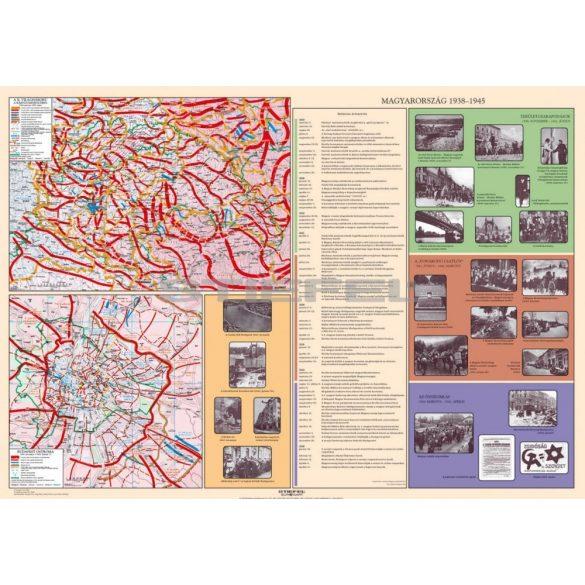 A bécsi döntések / Magyarország 1938-1945 hajtogatott térkép duo