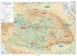 A magyar forradalom és szabadságharc duo fémléces térkép