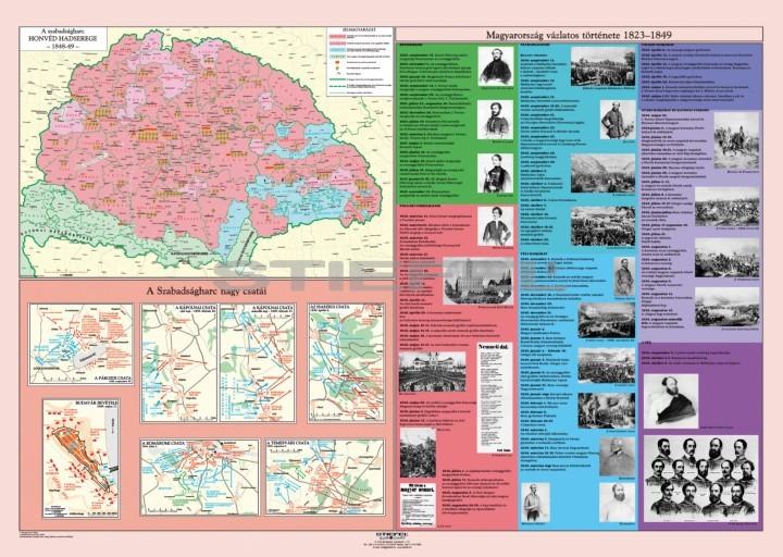 a05deb8788 1848 - Forradalom és szabadságharc hajtogatott térkép duo