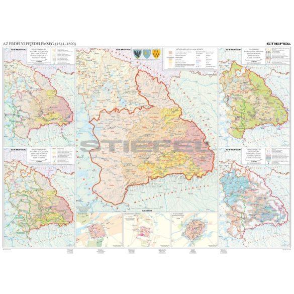 Az erdélyi fejedelemség duo hajtogatott térkép