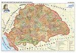 Hunyadi Mátyás magyar királysága térkép, keretes
