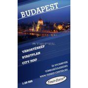 Budapest belső területének várostérképe