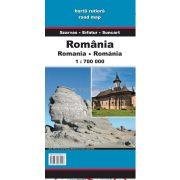 Románia és Moldova autótérképe