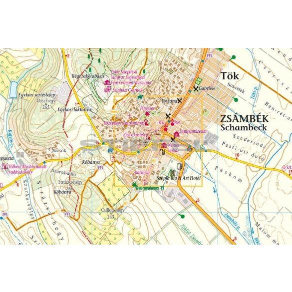 Zsámbéki-medence /Etyeki-dombság turistatérkép