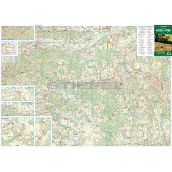 Őrség, Göcsej, Vend-vidék, Vasi-hegyhát turistatérkép