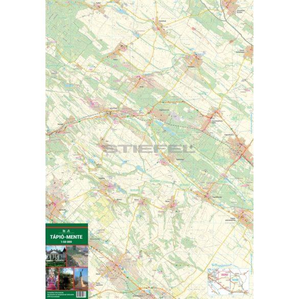 Tápió-mente turista-, biciklis térkép
