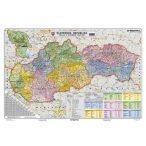 Szlovákia politikai szlovák nyelvű fémléces térkép
