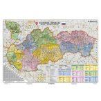 Szlovákia közigazgatása térkép, tűzhető, keretes