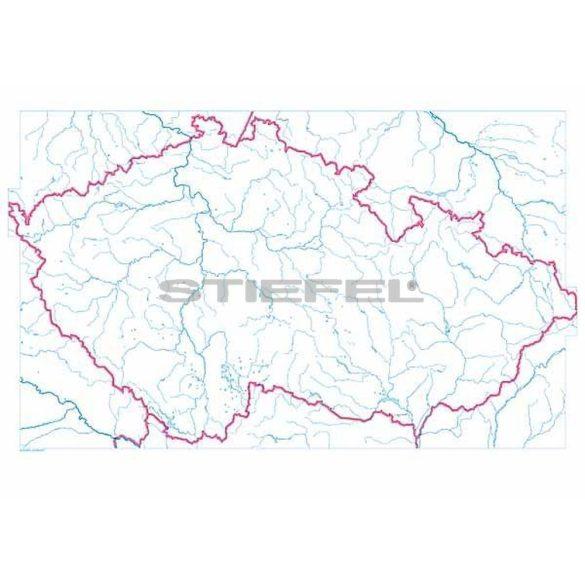 Csehország, domborzati + vaktérkép DUO (cseh)