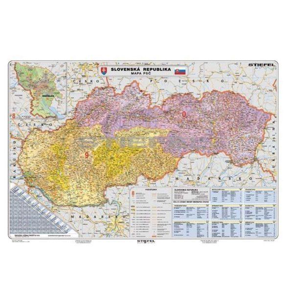 Szlovákia irányítószámos térképe