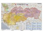Szlovákia irányítószámos térképe, tűzhető, keretes