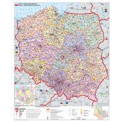 Lengyelország irányítószámos térképe fóliás-fémléces