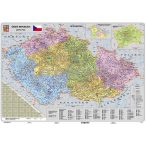 Csehország irányítószámos térképe, fóliázott, faléces