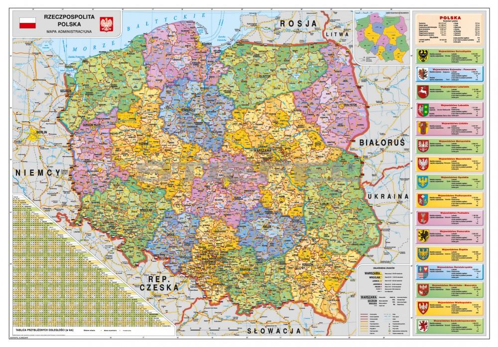 Lengyelorszag Kozigazgatasi Terkepe Folias Femleces