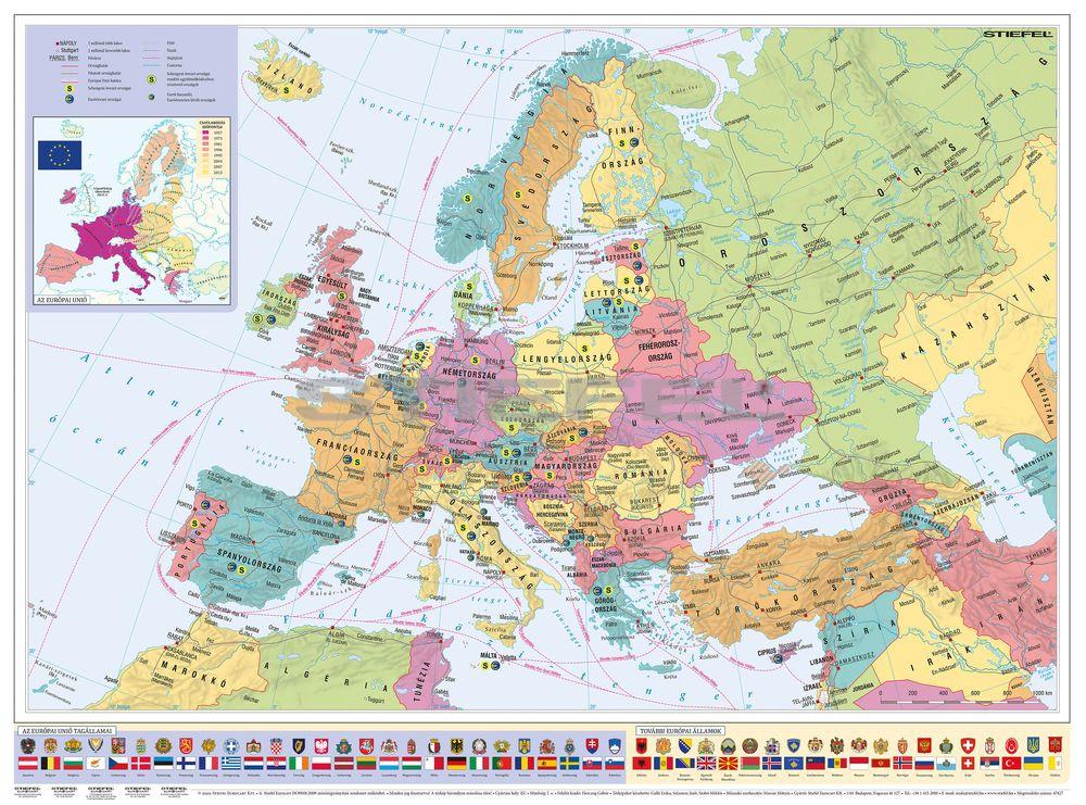Europa Orszagai Europai Unio Terkepe