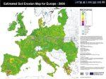 Európai Unió talajeróziós térképe angol nyelven