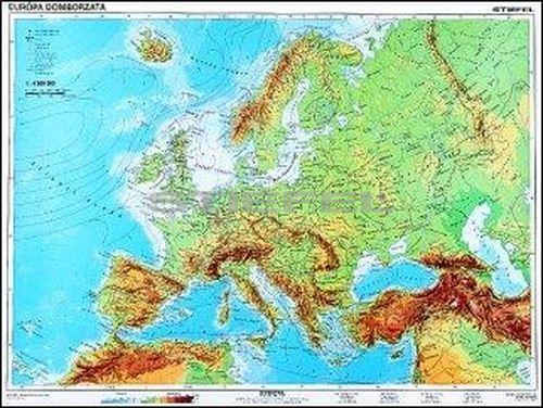 európa domborzati térkép Európa, domborzati + vaktérkép DUO óriás térkép poszter európa domborzati térkép