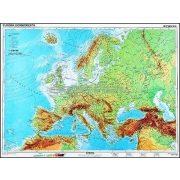 Európa, domborzati térkép duo hátoldalon vaktérképpel