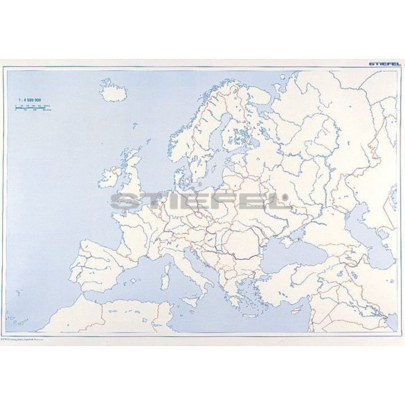 Európa, domborzati + vaktérkép DUO ajándék 10 db tanulói munkalap