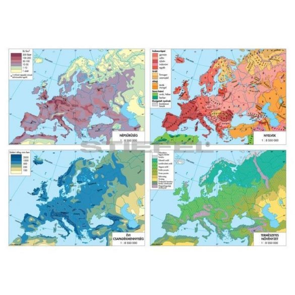 Európa politikai térképe+tematikus térképek DUO