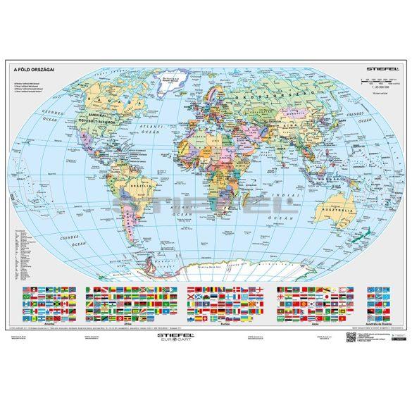 A Föld domborzati és politikai térképe DUO