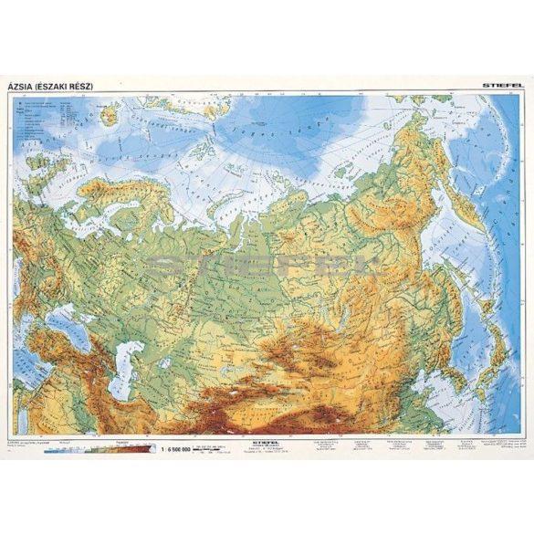 Észak-Ázsia, domborzati + politikai (F.Á.K. ) DUO