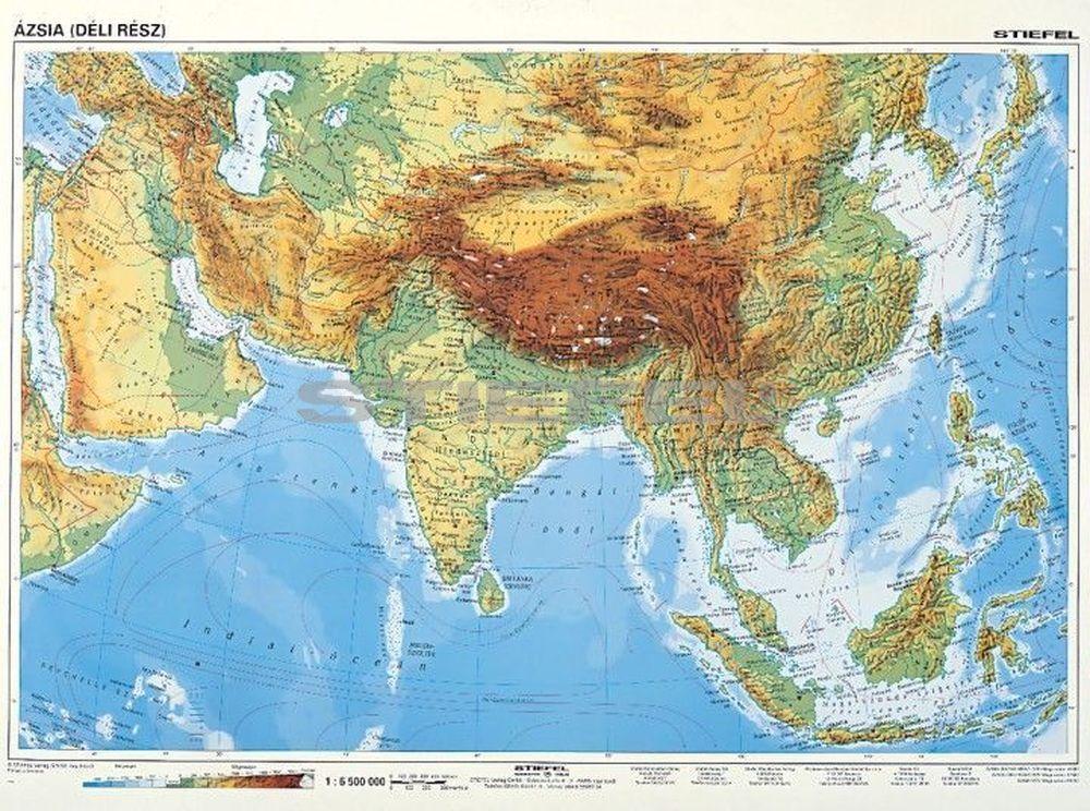 ázsia térkép domborzati Dél Ázsia, domborzati + politikai DUO ázsia térkép domborzati