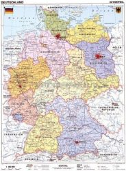 Németország, politikai + vaktérkép DUO (német)