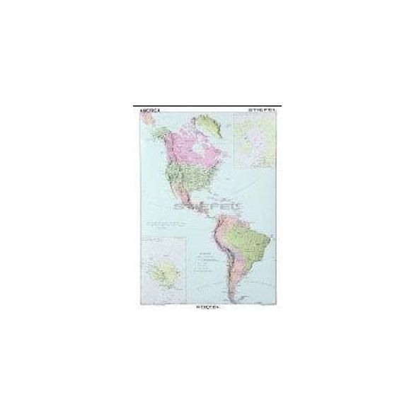 Észak- és Dél-Amerika politikai térképe (angol)