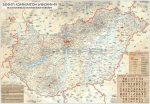 Magyarország rovásírás térképe keretezett, tűzhető