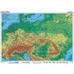 Közép-Európa, domborzati + vaktérkép DUO