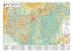 Magyarország autótérkép fóliázott lécezett
