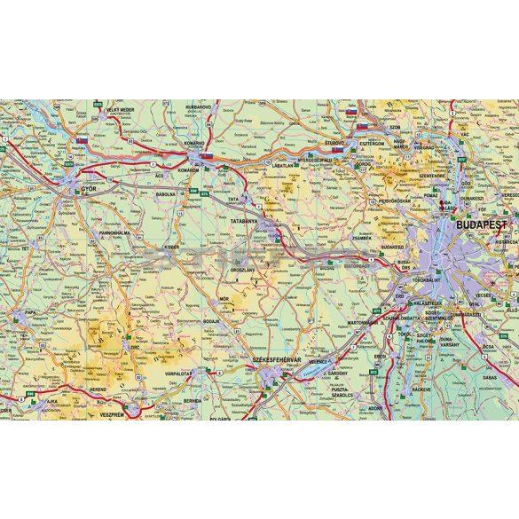 Magyarország autótérkép keretezett