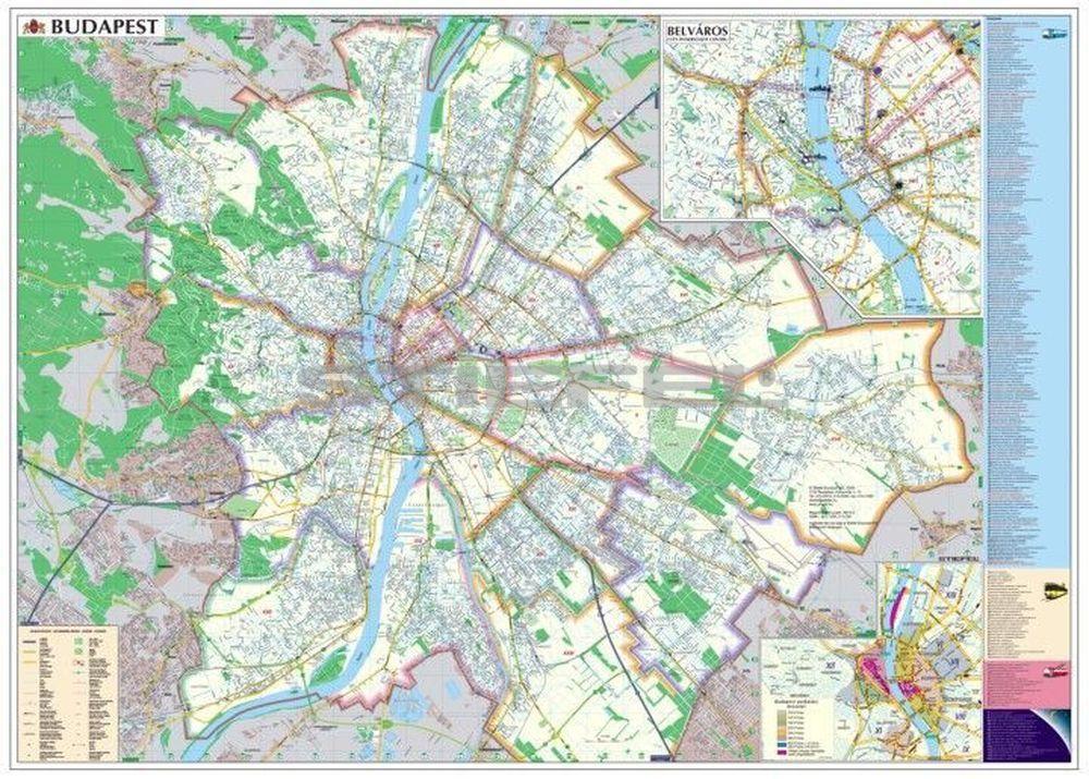 térkép budapest Budapest hajtogatott térkép