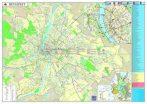 Budapest térképe, mágnesezhető, fémkeretes falitérkép