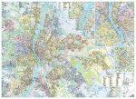 Budapest térképe, tűzhető, keretes