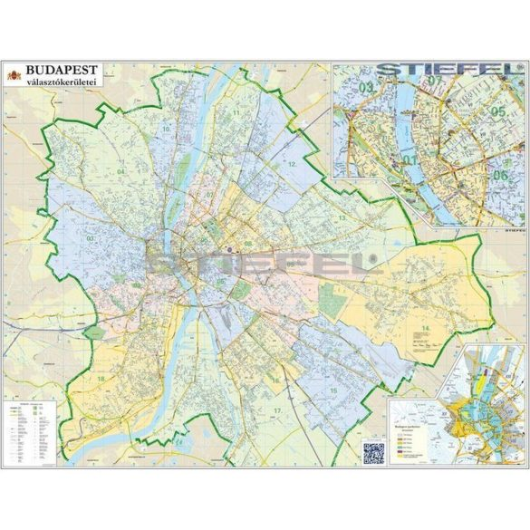 Budapest országgyűlési választókerületei (2014) keretezett