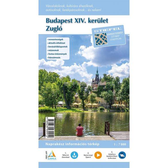 Budapest XIV. kerület hajtogatott térképe