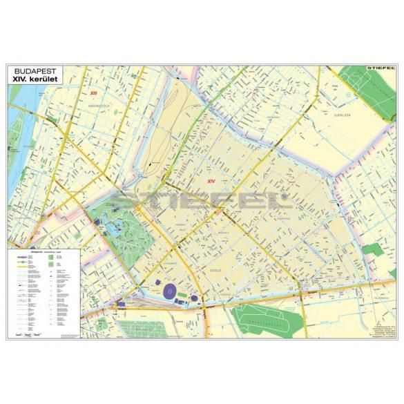 Budapest XIV. Kerület hajtogatott térkép