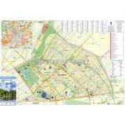 Budapest XIV. kerület tűzhető, keretezett térképe