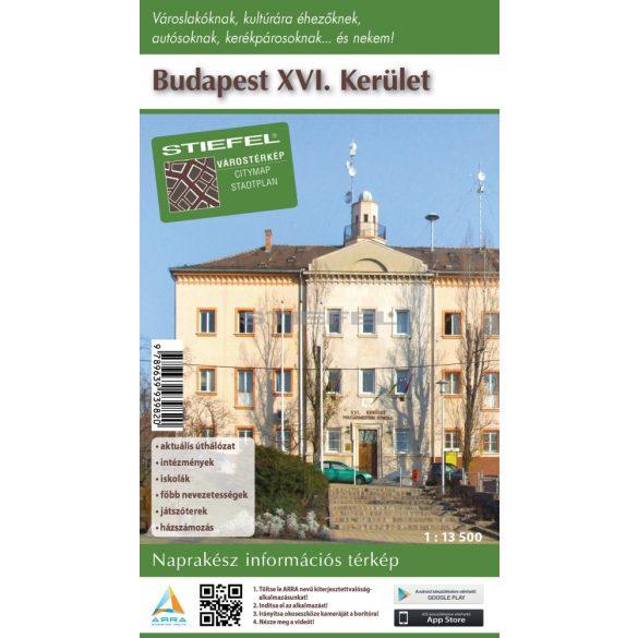 Budapest XVI. kerület hajtogatott térképe
