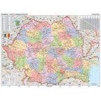 Románia közigazgatása térkép mágnesezhető, fémkeretben