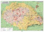 Magyar néprajzi térkép kétoldalas óriásposzter