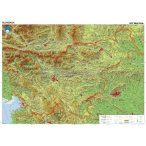Szlovénia domborzata falitérkép