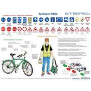 Kerékpáros KRESZ fémléces tabló
