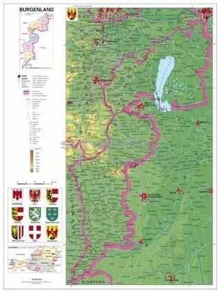 burgenland térkép Burgenland térképe (német) burgenland térkép